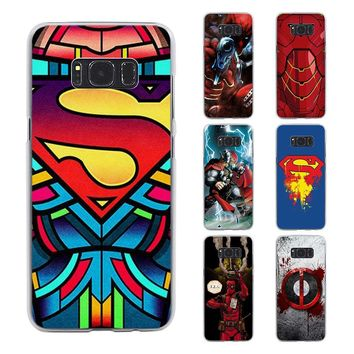 Deadpool Dead pool Taco  Ironman Batman Superhero style transparent phone shell Case for Samsung Galaxy S8 S8 Plus note 5 4 S6 S7 edge AT_70_6