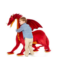 Hansa Toys 3.6Ft Ride-On Dragon Red Multi