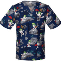 Jiminy Cricket V Neck Scrub Top For Men