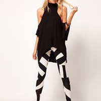 ASOS Legging in Oversized Tribal Print at asos.com