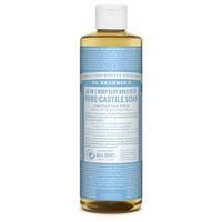 Dr. Bronner's Baby Unscented Liquid Castille Soap - 16oz