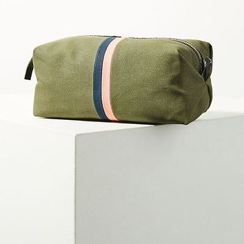 Clare V. Waxed Canvas Pouch