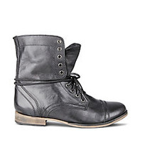Black Fashion Mens Combat Boots | Steve Madden Troopah