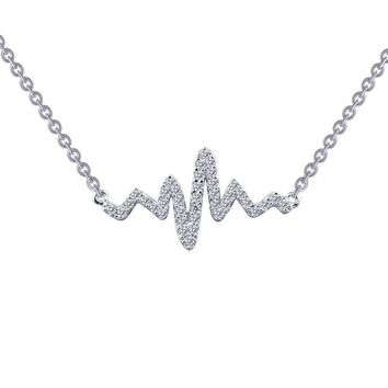 Lafonn Heartbeat Style Simulated Diamond Necklace