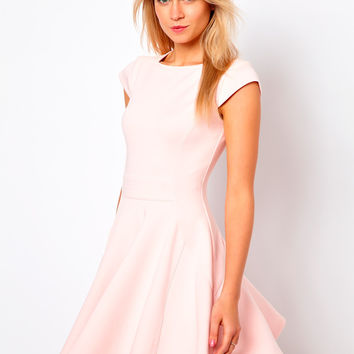 Ted Baker Skater Dress with Capped Sleeves