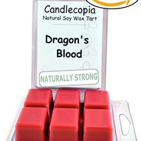 Candlecopia Dragon's Blood 6.4 oz Scented Wax Melts - A potent and earthy fragrance infused with cedarwood, orange and patchouli essential oils - 2-Pack of naturally strong scented soy wax cubes throw 50+ hours of fragrance when melted in Scentsy®, Yankee