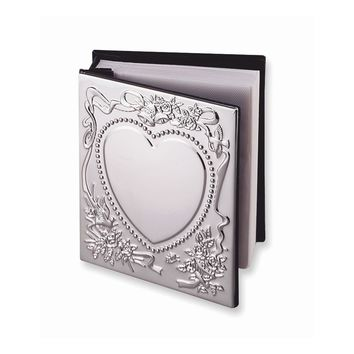 Chrome-plated Sweetheart Photo Album - Engravable Perfect Wedding Gift
