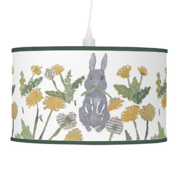 Cute Bunny and Dandelion Lamp