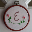 Custom Monogram Embroidery - Personalized Embroidery, Baby Name Embroidery, Hoop Art, Wall Hanging, Nursery Art