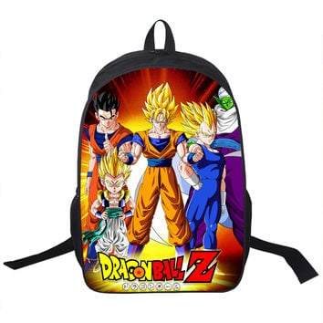 CHOOSE FROM Dragonball Dragon Ball Z prints Backpack girls boys teen school book bag carrying case