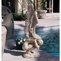 SheilaShrubs.com: Remembrance and Redemption Angel Sculpture: Medium NG33765 by Design Toscano: Garden Sculptures & Statues