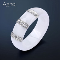 Monogram Trendy 6mm Stainless Steel Party Cocktail Ring Women Tlr0008-b Tlr0008-w