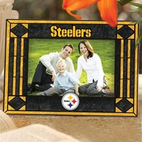Pittsburgh Steelers Art-Glass Horizontal Picture Frame