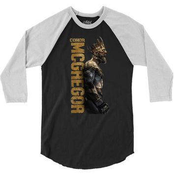The King conor mcgregor 3/4 Sleeve Shirt