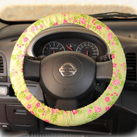 by (CoverWheel) Steering wheel cover for wheel car accessories Non Yellow Floral Wheel cover