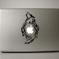 Flying Wolf mac decal mac book mac book pro mac book air Ipad mac sticker