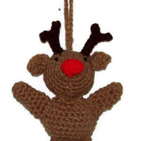 Rudolph The Red Nosed Reindeer Christmas Ornament christmas in july sale
