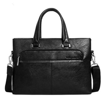 Mens Business Bag PU Leather Handbag Portable Sling Bag Shoulder Bag