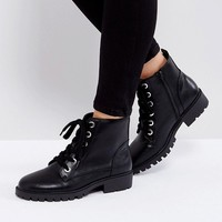 London Rebel Lace Up Ankle Boot at asos.com