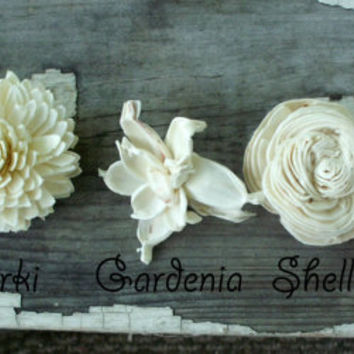 Sola flower sample, sola flowers, keepsake flowers, tapioca wood flowers