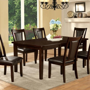 Furniture of america CM3910T-3984DK-7PC 7 pc Emmons I dark cherry finish wood dining table set