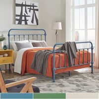 Giselle II Full Metal Bed by MID-CENTURY LIVING | Overstock.com Shopping - The Best Deals on Beds