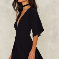 Drop Rocks Plunging Romper