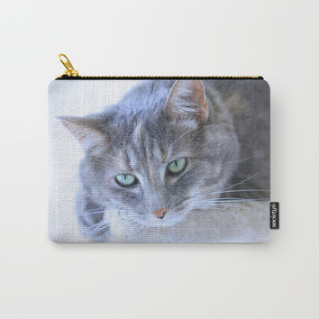 Aqua Eyes Carry-All Pouch by Theresa Campbell D'August Art