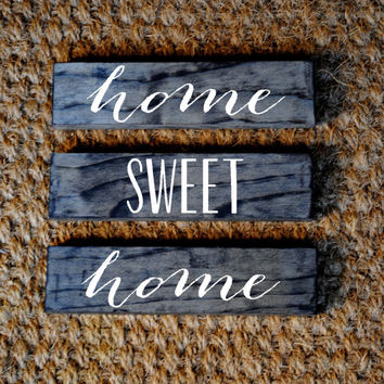 HOME SWEET HOME // Inspirational Quote Wooden Sign