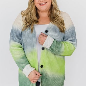 Brighten the Mood Knitted Button Cardigan- Multi-Colored