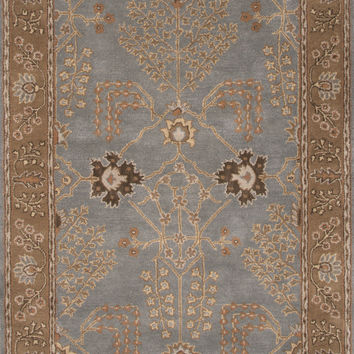 Jaipur Rugs Transitional Arts And Crafts Pattern Blue/Brown Wool Area Rug PM134 (Rectangle)