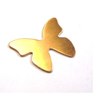 1 inch bronze butterfly stamping blank, 20 gauge qty - 5