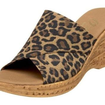 DCCKAB3 Onex Christina Brown Leopard Sandals