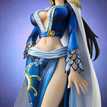 2016 best selling One Piece Hand Do Blue Pirates Female Emperor Boa Hancock Action Figure 23cm Furnishing Articles Decorations