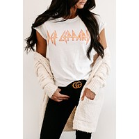 """Def Leppard"" Graphic Tee (White)"