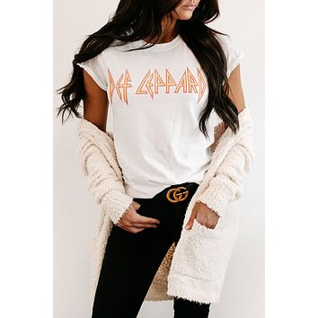"""""""Def Leppard"""" Graphic Tee (White)"""