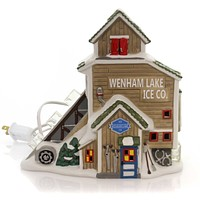 Department 56 House Wenham Lake Ice Company Village Lighted Building