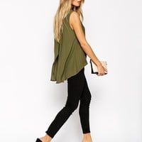 ASOS High Neck Tunic Top