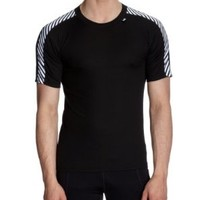 Helly Hansen Men's Stripe T T-Shirt (Black, Small)
