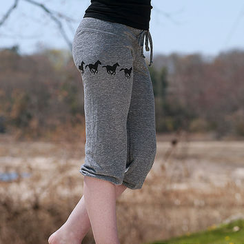 wild and free Horse Pants, Cropped Pants, Yoga Pants, Pajamas