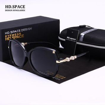 HD.space Polarized sunglasses women zonnebril sun glass for women sunglasses women brand designer  gafas de sol mujer polarizada