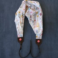 Wildflower Scarf Camera Strap