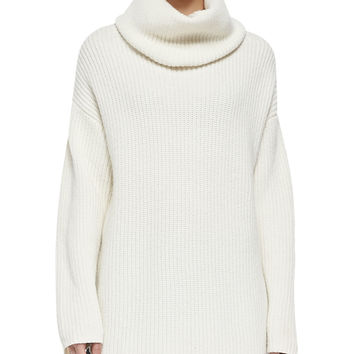 Women's Naven Loryelle Ribbed Turtleneck Sweater - Theory - Ivory (LARGE)