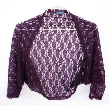 Purple lace Shrug