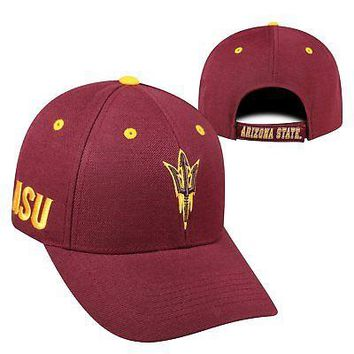 Licensed Arizona State Sun Devils NCAA Adjustable Triple Threat Hat Cap Top of the World KO_19_1
