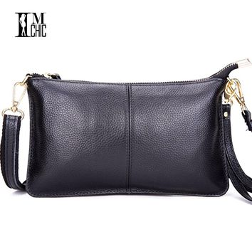Designer Genuine Leather Small Shoulder Bags Casual Evening Party Clutch Women's Handbags Female Envelope Crossbody Women Bag