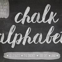 Chalk Alphabet Clipart. Chalkboard Letters, Numbers, Symbols. Hand Written Chalk Brush Lettering. White Chalk Text for Wedding -300dpi -PNG