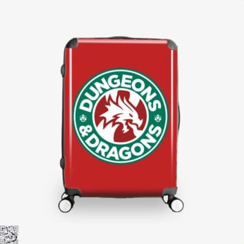 Starbucks Parody Mashup, Dragon And Dungeon Suitcase