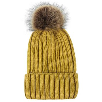 Winter Women Girl Crochet Knitted Hats Skull Caps Ball Beanies Hairball Hat new knit hat double thickening wool cap plus**627
