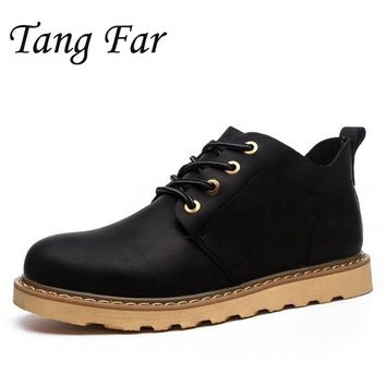 Men's Tooling Boots Men Luxury Brand Casual Shoes Male Retro Flats Mens Work Safety Shoes Quality